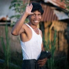 Happy guy, Bali, Ubud