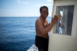 Fransman the dive instructor, Komodo, Flores, Indonesia.