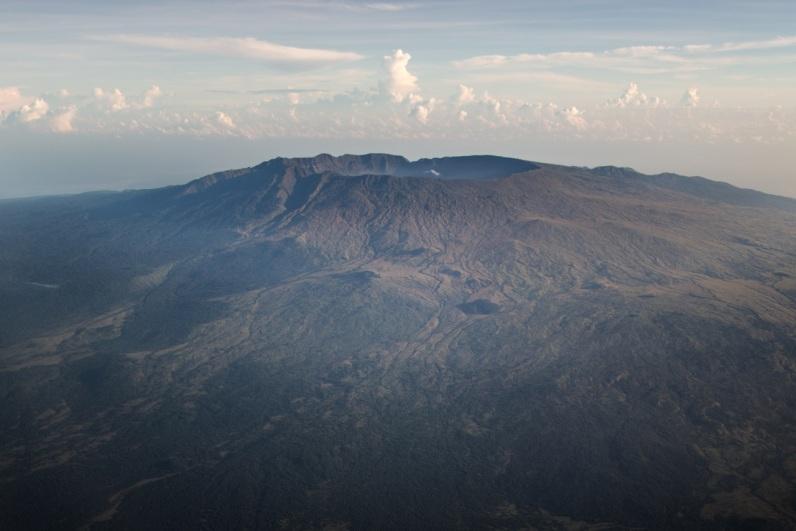 Mount Tambora, Tambora Crater, Sumbawa, Indonesia, Aerial,