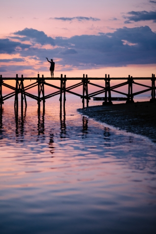 Sebayur Kecil, Sunset, Dock