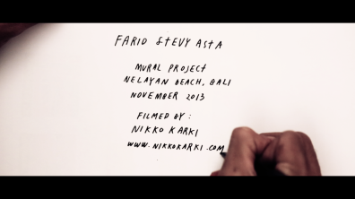 Farid Stevy Asta Artist Portrait 2 by Nikko Karki